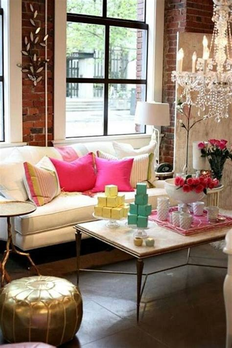 pink and gold living room vintage funky pink gold living room for