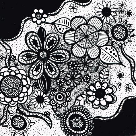 doodle flowers bwflowerdoodle jpg 1600 215 1600