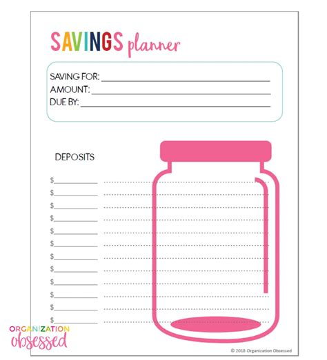 savings planner template savings planner template outletsonline info