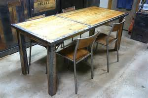 nice Table Basse Transformable En Table Haute #4: table-a-manger-bois-metal-industrielle.jpg
