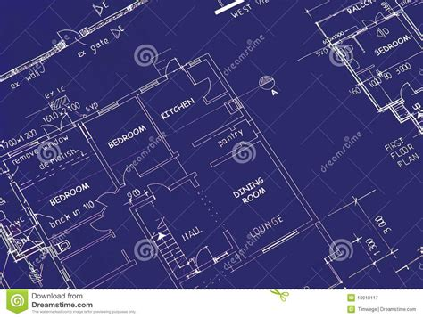 Blueprints Of A House by Blueprint Of Building Plans Royalty Free Stock Photography
