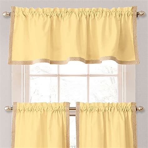 yellow bathroom window curtains buy seaview window curtain valance in yellow from bed bath