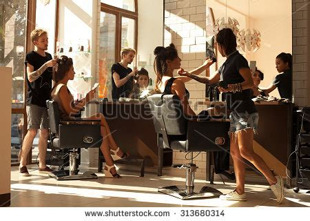 little peoples haircutters medford hours picture working day inside beauty sit stock photo