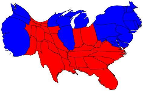 us map states size by population election result maps