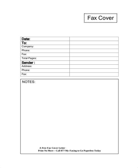 sample fax cover letters  word