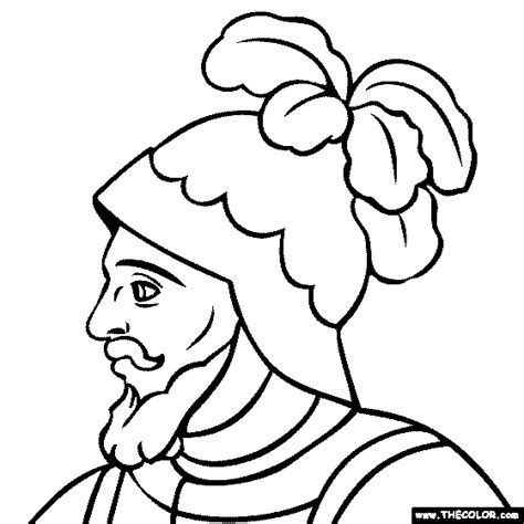 coloring pages spanish explorers free online coloring pages thecolor