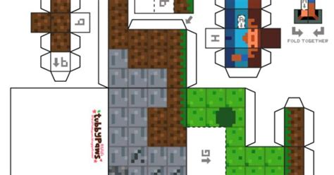 Minecraft Papercraft World - papercraft minecraft world qegyvtsw ijslollystokjes