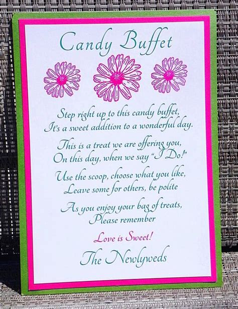 Candy Table Quotes Quotesgram Wedding Buffet Sayings