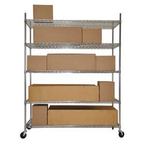Trinity 5 tier heavy duty wire shelving rack 60 quot x 24 quot x 72 quot nsf