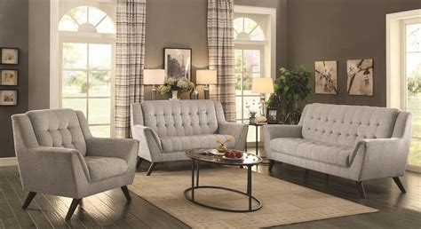 coaster living room furniture baby natalia sofa in grey fabric 511031 by coaster w options