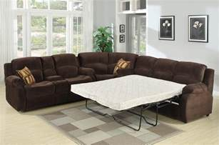 Sectional Sofa With Sleeper Tracey Recliner Sleeper Sectional Sofa