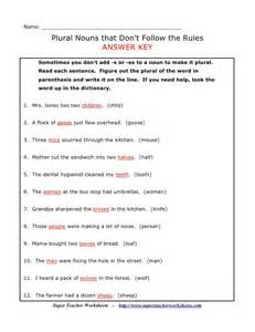 plural noun worksheet number 3