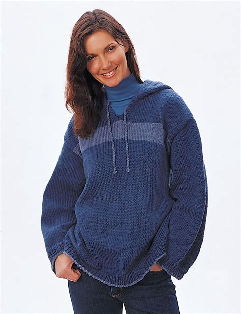 free knitting pattern hooded jumper yarnspirations com bernat hooded sweatshirt patterns