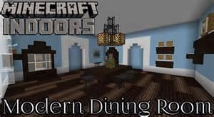Minecraft Dining Room Design modern dining room in blue minecraft indoors interior