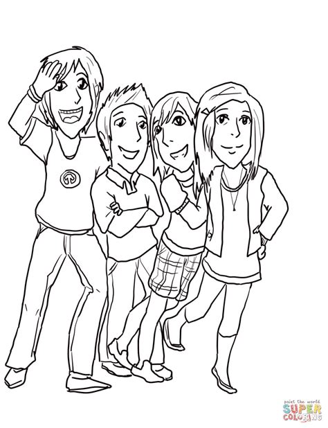 Gibby Freddie Sam And Carla Coloring Page Free Icarly Coloring Pages