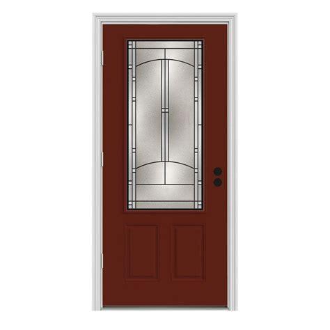 Jeld Wen 34 In X 80 In 3 4 Lite Idlewild Mesa Red W 34 X 80 Interior Door