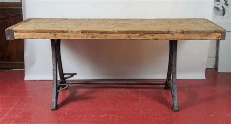 metal kitchen island tables industrial steel workbench kitchen island table at 1stdibs