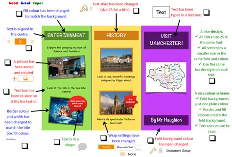 layout features of a leaflet parkfield primary school year 4