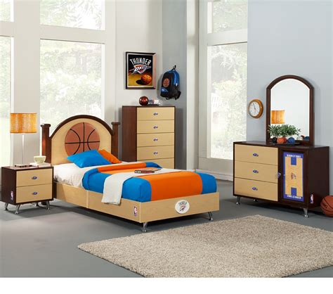 kids bedroom in a box dreamfurniture com nba basketball oklahoma thunder