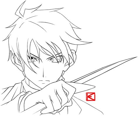 Anime Outline by Basic Anime Coloring Coloring Pages
