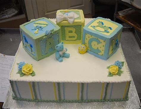 Baby Shower Cakes With Blocks by Baby Shower Block Cakes Www Imgkid The Image Kid