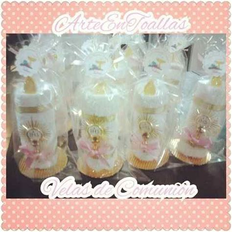 velas hechas con toallas faciales para recuerdos de bautizo o primera comunion velas con toallas primera comunion buscar con recuerdos comuni 243 n