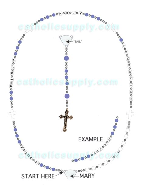 how to make rosary make your own personalized communion rosary kit