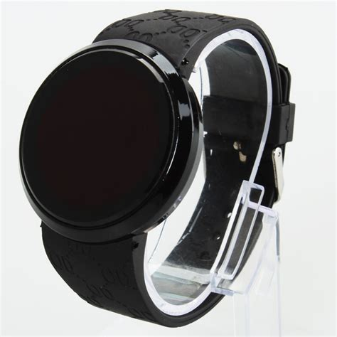 fashion s touch screen circular pattern silicone led