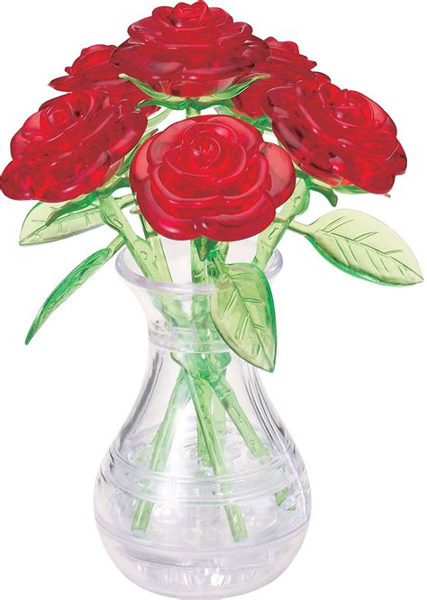 Large Vase Crossword by Roses In A Vase 3d Puzzle Puzzlewarehouse