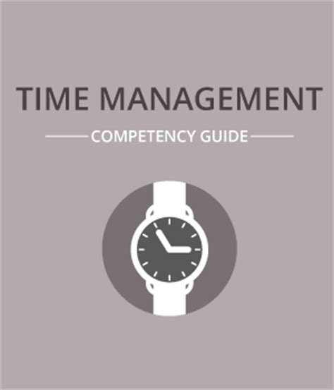 time management competency guide