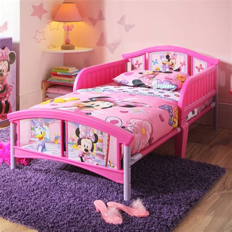 disney toddler beds disney minnie mouse toddler bed with bonus collapsible toy