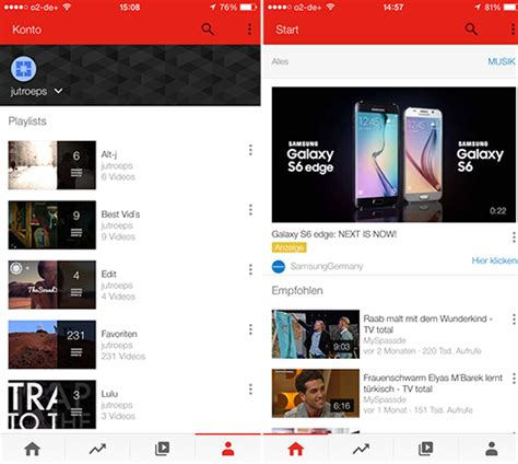 application design youtube youtube testing ios app redesign with small subset of users
