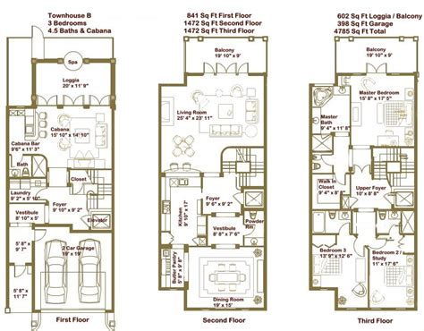 townhouse floorplans luxury townhome floor plans google search home