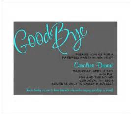 Farewell Card Template by Farewell Card Template 18 Free Printable Sle