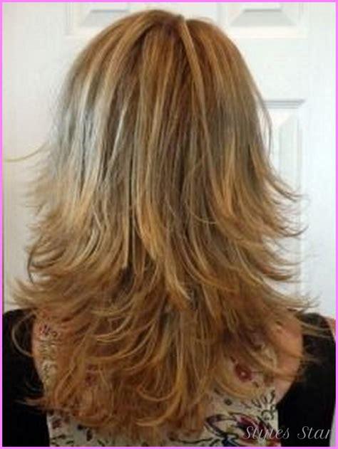 photos of the back of a medium length haircut medium length haircuts with layers back view stylesstar