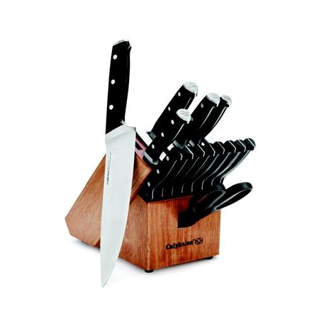 self sharpening kitchen knives calphalon classic self sharpening 15 pc cutlery knife block set kitchen dining