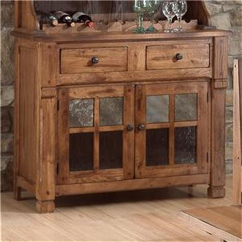 sunny designs 2416ro sedona 77 h buffet and hutch in sunny designs sedona end table w drawer and slate top