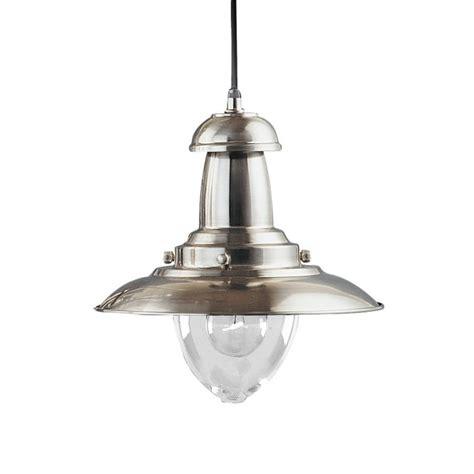 Silver Pendant Lights Searchlight 4301ss Fisherman 1 Light Satin Silver Ceiling Pendant
