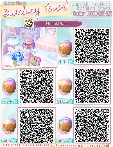 acnl cute hairstyles quot h quot qr codes animal crossing qr and mermaid