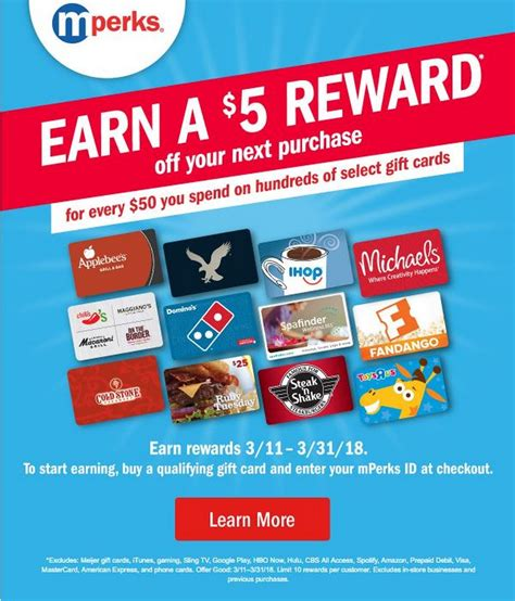 Meijer 5 Off 50 Gift Card - meijer s month long gift card sale 10 off most cards