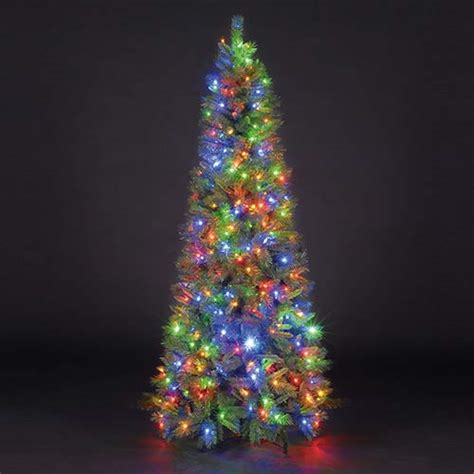 sale on 6ft 180cm duchess spruce slim green pre lit led