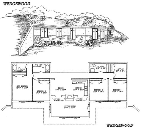 earth bermed home plans berm home building plans find