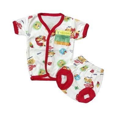 Elnira Tangan Pendek Merah 1 jual aruchi motif tribal kancing depan tangan pendek setelan baju tidur bayi merah nb