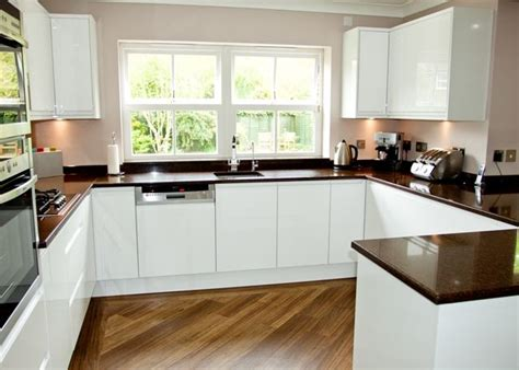 handleless white gloss kitchen surrey