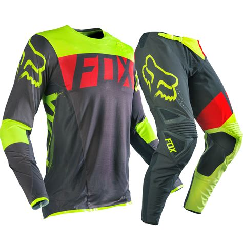 ebay motocross gear fox racing 2016 mx flexair libra dirt bike grey yellow