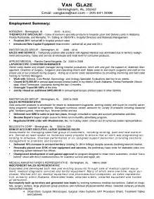 doc 500708 sales resume sle sales cv template sales