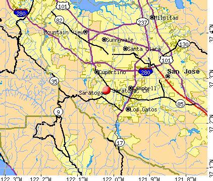 saratoga california ca 95070 profile population maps