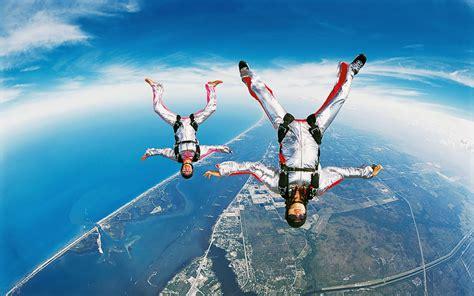 parachute dive wallpaper skydiving