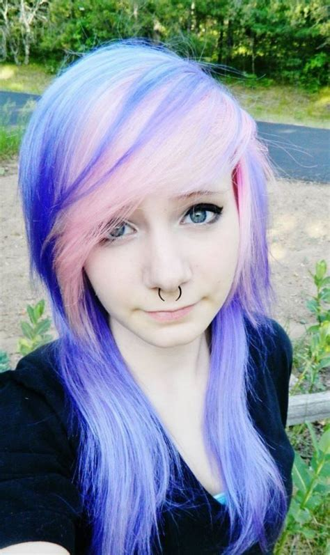 dyed emo hairstyles 123 best images about emo hair on pinterest scene hair