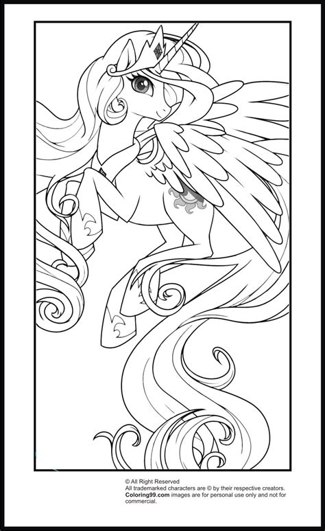 coloring page my little pony princess my little pony princess celestia coloring pages team colors